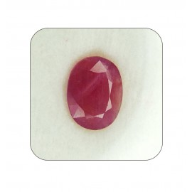 Certified Ruby Gemstone Fine 5+ 3.4ct