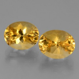 Citrine 5.81 ct (total) Yellow Golden Oval Facet